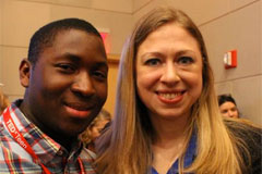Musa Kumeh '15 and Chelsea Clinton