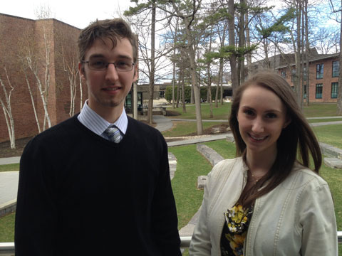 Emerson O'Donnell '15 and Hanna Levine '14