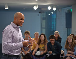 Wes Moore at the Tang