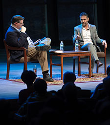 Joe Donahue and Khaled Hosseini
