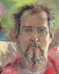 Paul Sattler, self portrait