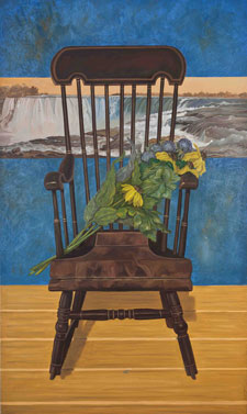 Doretta Miller, Portrait of Chair with Wildflowers