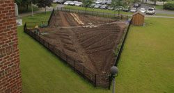 Birdseye view of new garden