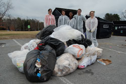 Waste Audit, Rachel Willis and students