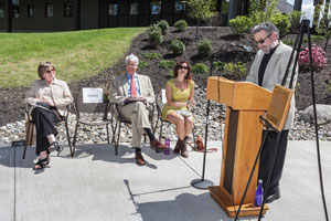 Roth Garden dedication ceremony
