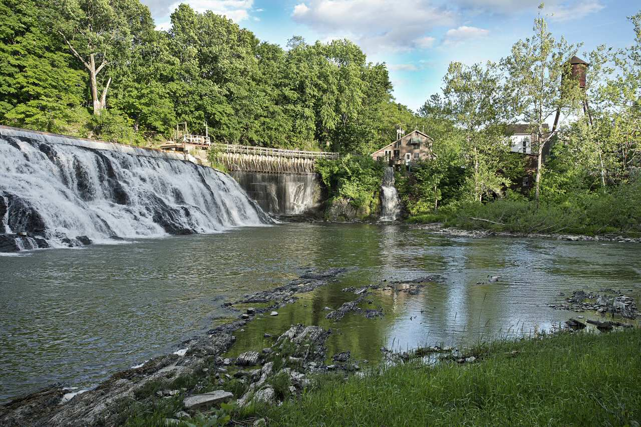 Dam at Chittenden Falls on Kinderhook Creek in Columbia County
