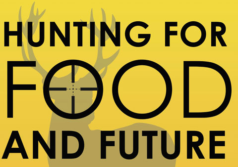 Hunting for food poster