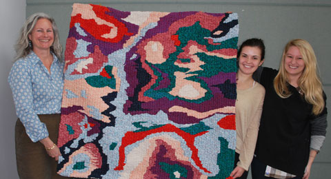 Student artists share tapestry with Geosciences professor