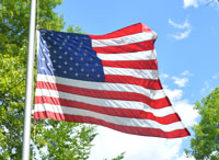 Flag on campus, Memorial Day 2015