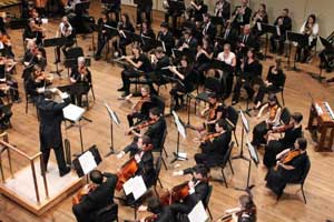 Skidmore College Orchestra in performance