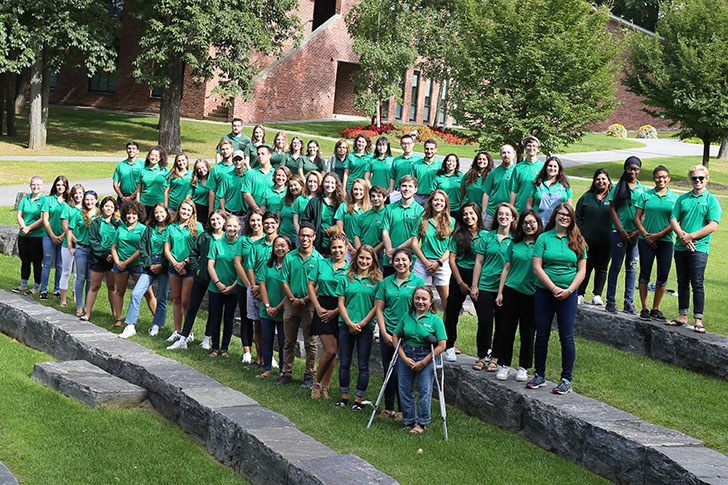 2017-2018 Residence Life staff at Skidmore College