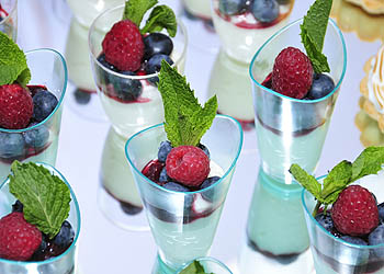 Panna cotta with fresh berry compote