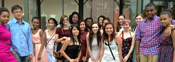Students on a field trip to the ballet