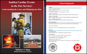 Smith, D.L., Liebig, J.P., Steward, N.M., Fehling, P.C. (2010). Sudden Cardiac Events in the Fire Service: Understanding the Cause and Mitigating the Risk. First Responder Health and Safety Laboratory, Skidmore College.