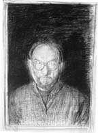 Jerome Witkin, Self-Portrait, 1999, graphite, 21 x 18 inches, Courtesy Jack Rutberg Gallery