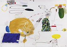 Lisa Sanditz, Memorial Day, 2001, mixed mediums on paper, 30 x 42 inches