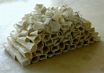 Abigail Murray ('96), Bricks, 2003, porcelain, 60 x 26 x 25 inches
