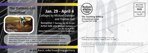 Exhibit by Michael Oatman at HVCC Teaching Gallery