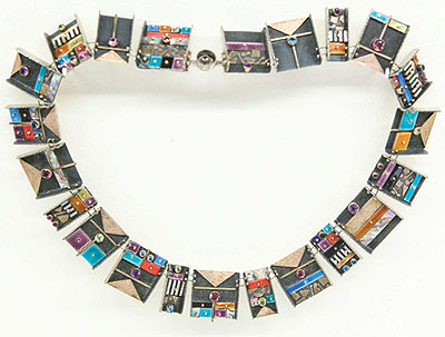 Earl Pardon, Mosaic Panel Necklace, 1987