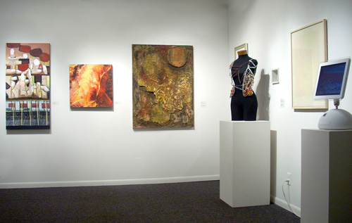 Installation view, 2010 Skidmore Student Exhibition in Schick Art Gallery