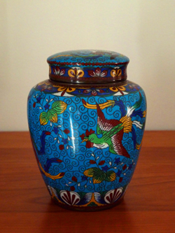 David Peterson Cloisonne Jar