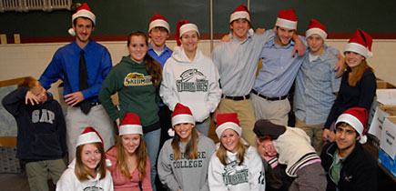 Students involved in Skidmore Cares 2006