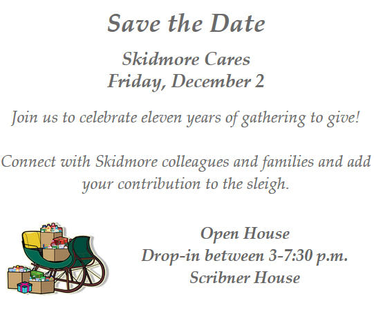 Save the date - Skidmore Cares is Friday, December 2