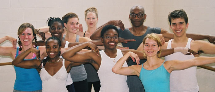 Bill T. Jones with Summer Dance Scholarship Recipients