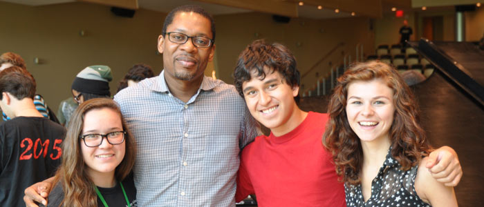 Ravi Coltrane with students