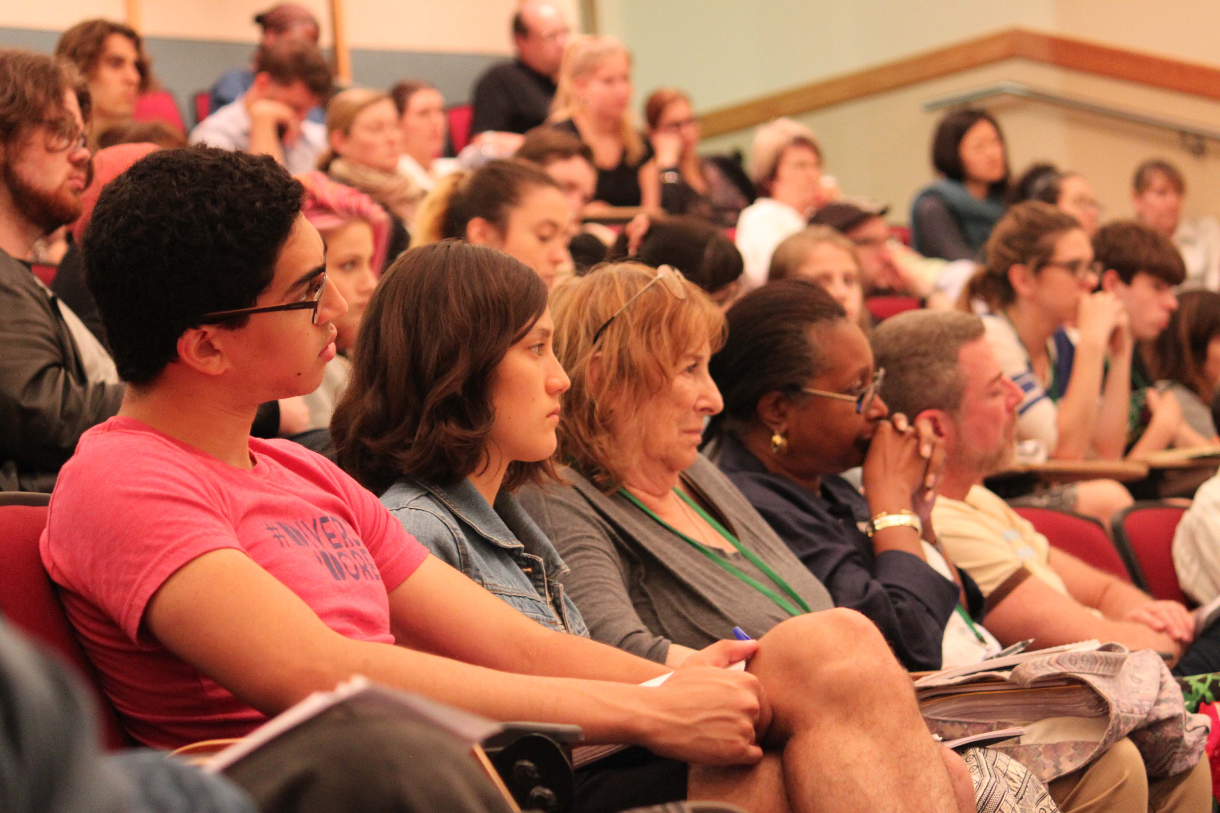 Lopate's students at a reading