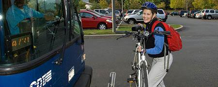 Ride your bike to Skidmore - save gas!