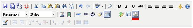 Assets button on the toolbar