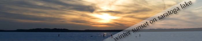Winter sunset on Saratoga Lake