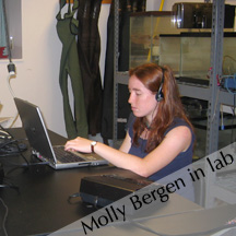 Molly Bergen in the lab