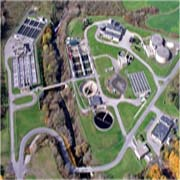 Aerial view of the Saratoga County Sewer Plant