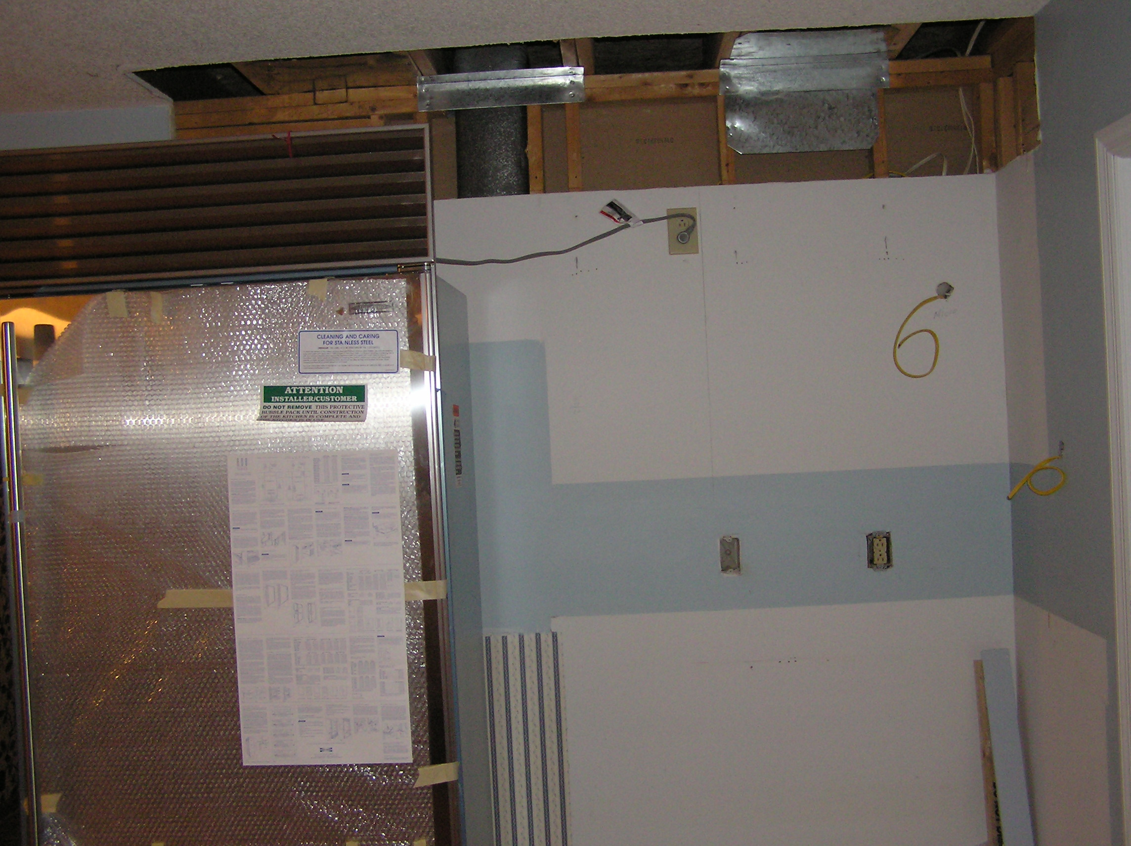 Thompson Kitchen January 2005 Rewiring A Room They Also Begin Some Extensive Of The
