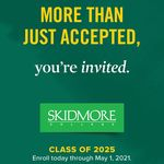 #Skidmore2025 accepted students, it's time to decide! May 1 is this Saturday.