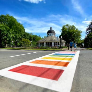 Skidmore is honored to help Saratoga Pride bring a rainbow to downtown Saratoga Springs this #pridemonth