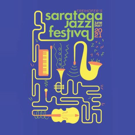 Were jazzed  to share that Maddy Tyler 21 is the artist behind the official artwork for the 44th annual Freihofer's Saratoga Jazz Festival at the Saratoga Performing Arts Center (SPAC).