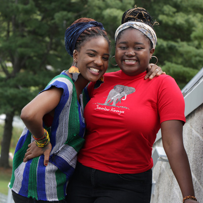 Two students in African Heritage Awareness club