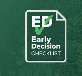 Early Decision checklist