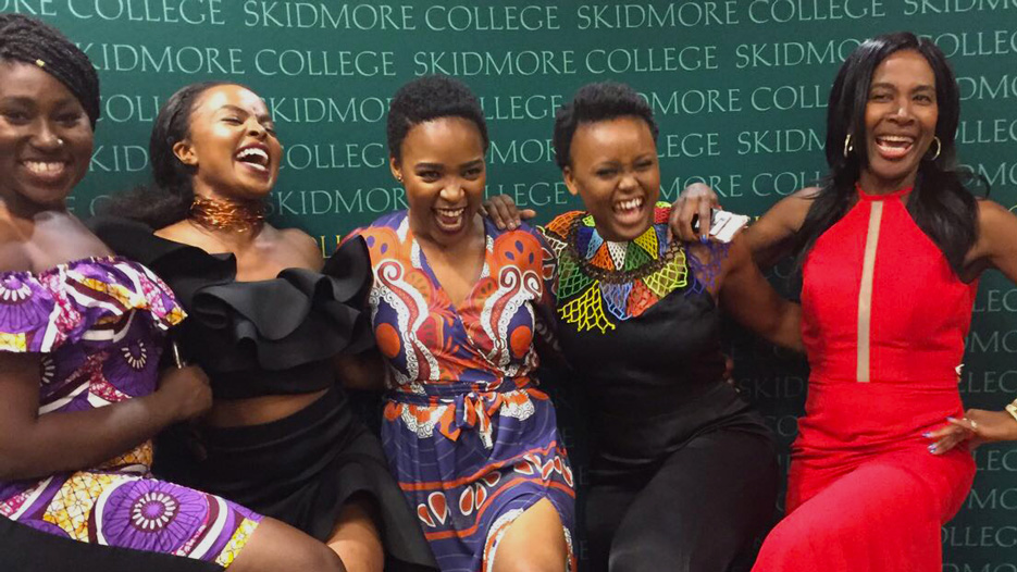 Students celebrate african culture at a gala event