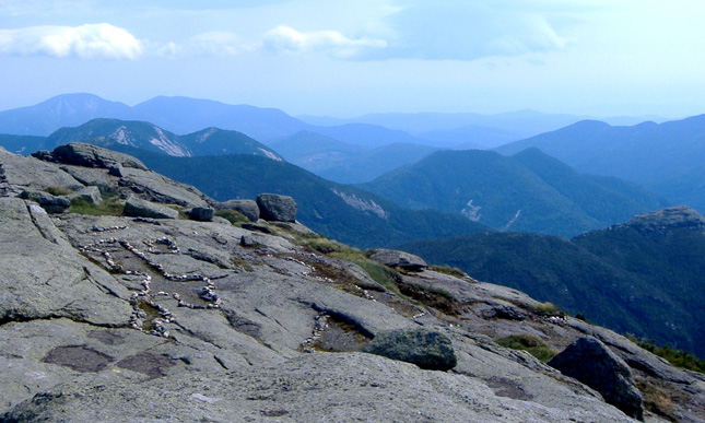 A view of the Adirondack Mountains high peaks