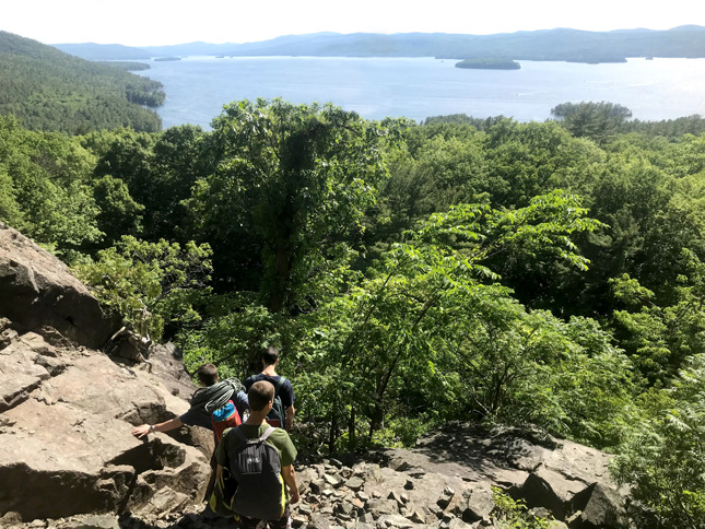 A view of Lake George from Shelving Rock trail