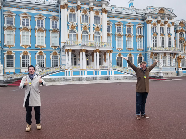 Anthony Nikitopoulos at Catherine Palace in Russia