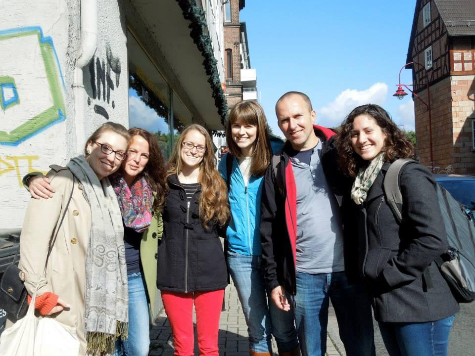 Julia Mazarella stands with other students in Germany