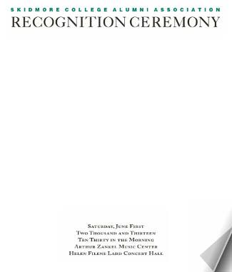 Recognition ceremony program
