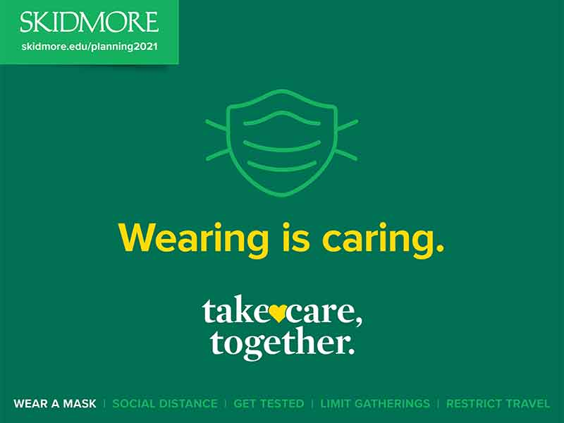 Wearing is caring -  Take care, together