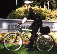 Officer Terri Sancore on bike patrol