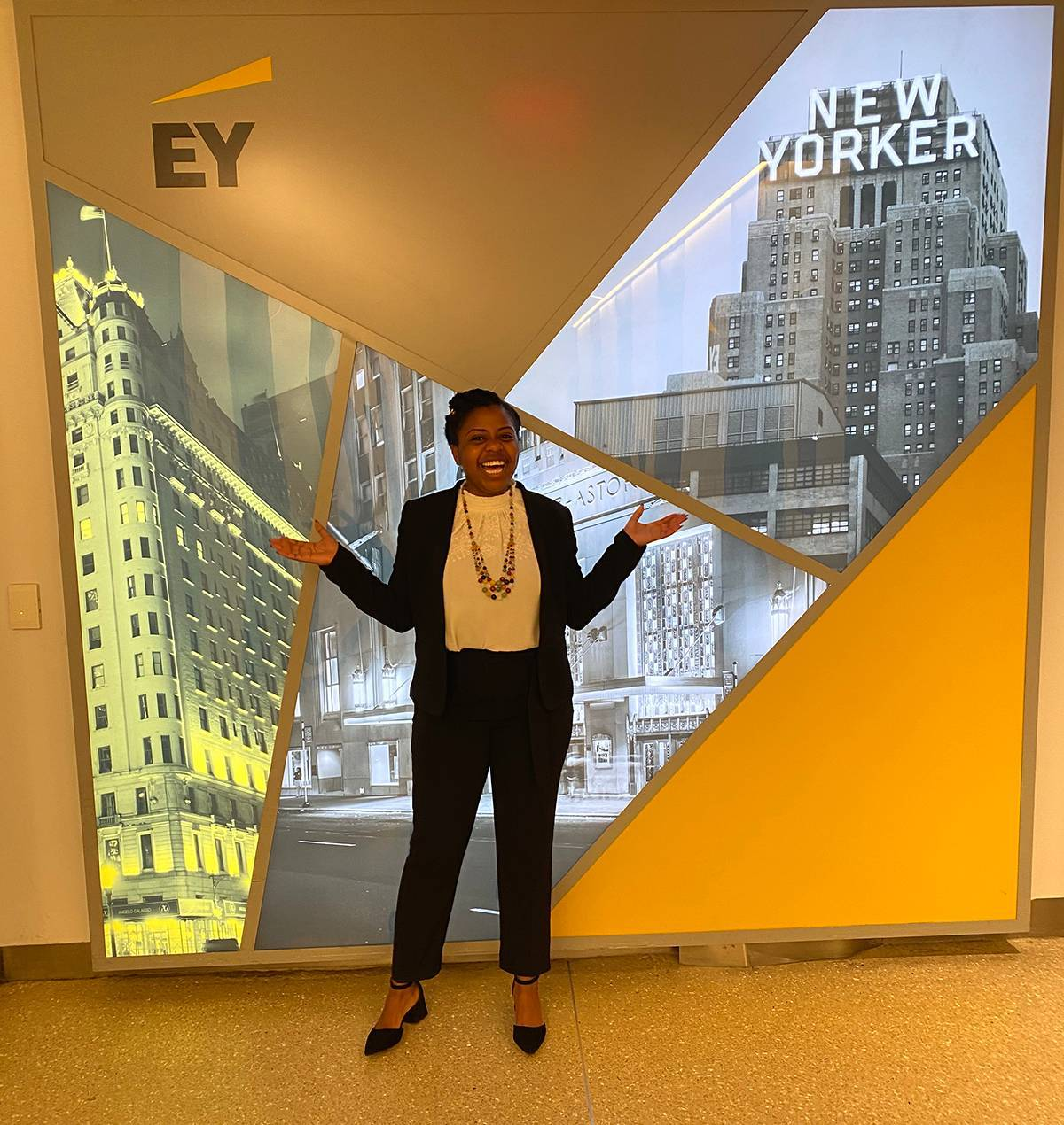 Novihelha Moleni attends Super Day at the New York City EY headquarters in 2019.